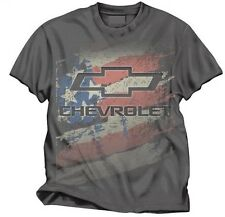 CHEVY AMERICANA MENS CHARCOAL 100% PRE-SHRUNK COTTON TEE SHIRT