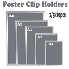 SNAP FRAME POSTER HOLDER CLIP DISPLAY RETAIL PICTURE ADVERT WALL NOTICE BOARD UK