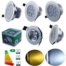 1/4X 1W/3W/5W/7W/12W LED Recessed Ceiling Down Light Cabinet Fixture Lamp Energy