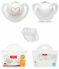 Nuk Genius Silicone Soother 2pk in a storage Bag Size 1 / Size 2 Available