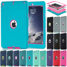 Hybrid Heavy Duty Rubber Shockproof Combo Hard Case Cover For Apple iPad Series