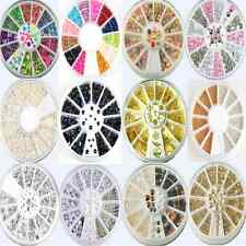 13Styles Charm DIY Muticolor Nail Art Tips Decoration 3D Glitter Wheel Sets FT68