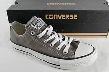Converse All Star Lace up Sneakers trainers, grey, Textile/ Canvas, New