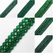 """2-14mm Faceted green Black Jade Stone Round DIY Loose Beads 15"""""""