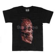 Vintage Black Tee Shirt Cool Mens Skull Shirt Glow In The Dark T Shirt Cotton