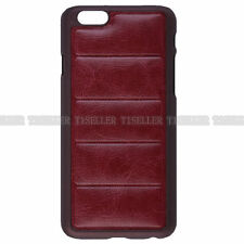 Luxury Leather Aluminum Metal Bumper Frame Skin Case Cover For iPhone 6S 6 PLUS
