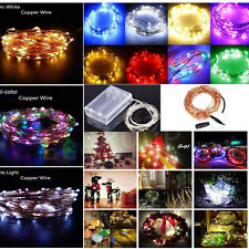 Battery/DC Operated 20/30/50/100/200/300 LED String Fairy Lights Party Xmas Lamp