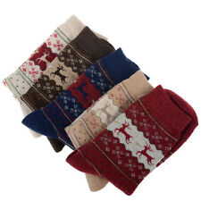 Christmas Snowflake Deer Design Womens Wool Socks Warm Winter Cute Comfortable