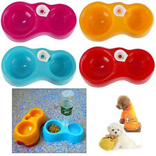 Hot Double Dog Cat Puppy Pet Bowl Non Slip Food Water Feeding Dish Dinner Feeder