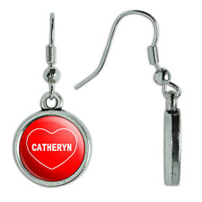 Novelty Dangling Drop Charm Earrings I Love Heart Names Female C Cata
