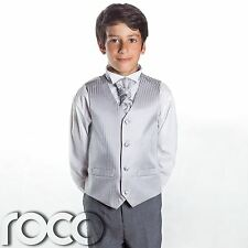 Boys Silver & Grey Suit, Page Boy Suits, Boys Wedding Suits, Boys Suits, Stripe