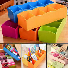 Plastic Organizer Storage Box for Tie Bra Socks Drawer Cosmetic Divider New