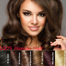 """18-20-22-24"""" Full Head Clip In Remy Real Soft Human Hair Extensions 7pcs US Q173"""