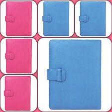 Kindle 100% Leather Folio Case for Kindle 4, touch paperwhite Pink Blue Black