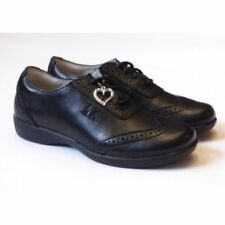 Girls Lelli Kelly School Shoes | Kimberly Lace Up Black Leather Brogue FREE GIFT
