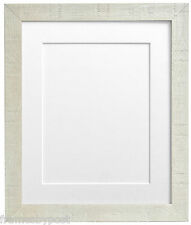 Deep Grain Off White Picture Photo Frames with 1.4mm White Core Acid Free Mounts