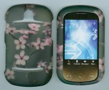 New Grey Pink Flowers For Pantech Pursuit 2 P6010 hard rubberized cover case