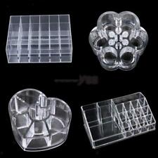 Clear Acrylic Cosmetic Organizer Jewelry Lipstick Makeup Brush Case Holder Stand