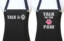 TALK TO THE PAW  Dog Grooming Apron pet groomer salon waterproof black or pink