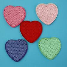 1 Heart Love Iron on Sew Patch Cute Applique Badge Embroidered Baby Kids School