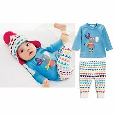 Toddler Kids Baby Boys Girls Long Sleeve T-shirt Top + Pants Outfit Clothes Set