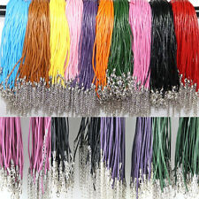 Wholesale 2.0MM 20pc Fashion Genuine Leather Lobster Clasp Leather Cord Necklace
