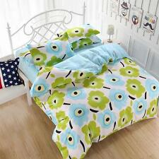 Fresh Flower Single Double Queen King Size Bed Set Pillowcases Quilt Duvet Cover