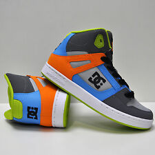 DC SHOES REBOUND GREY LIME GREEN (GL1) KIDS YOUTHS TRAINERS