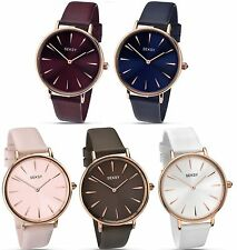 Sekonda Seksy Edit Collection Rose Gold Case Leather Strap Ladies Watch