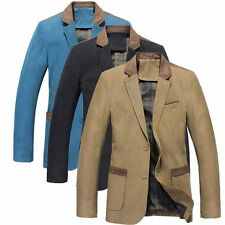 Mens 3 Colours Stylish Casual Slim Fit Two Button Suit Blazer Coat Jacket Tops