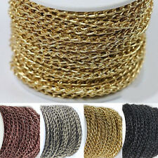 6x4mm 2/5/10M Gold Silver Bronze Open Ring Cable Aluminum Chain Finding Craft