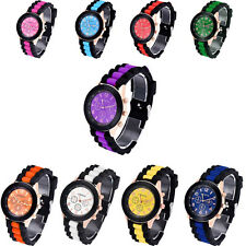 Colorful Unisex Wrist Watch Geneva Silicone Jelly Gel Quartz Analog Sports Watch