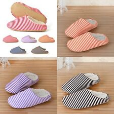 Winter Warm Sweet Woman Man lovers Plush Anti-slip Stripe Indoor Home Slippers