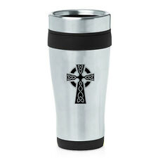 Stainless Steel Insulated 16oz Travel Mug Coffee Cup Celtic Cross