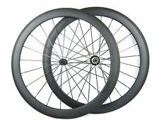 1390g 50mm clincher full carbon fiber bicycle wheels for shimano/campagnolo