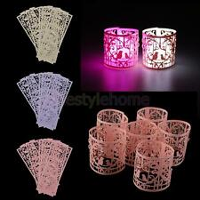 6pcs Wedding Tea Light Holders Votive Tealight Home Room Decor Paper Lanterns