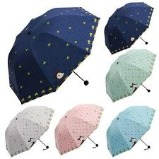 Lady Princess Folding Umbrella Cartoon Lovely Dome Parasol Sun/Rain Free Ship