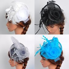 Charm Women Fascinator Hat Headband Feather Cocktail Wedding Party Headpiece