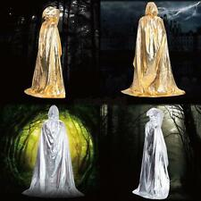 Bright Cloaks Cape Medieval Costume Party Wicca Hooded Shiny Halloween Robes O38