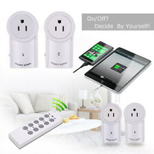 New 4/5 Pack Wireless Remote Control Outlet Power Light US Plug Switch Socket