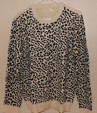 -*Faded Glory Women's Collection Crew Neck Sweater Oatmeal Animal Size: XL or 1X