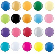 "2x Qualatex 36""  Large Round Latex Balloon for Weddings Decor + Curling Ribbon"