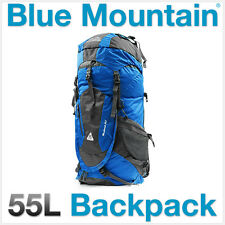 Blue Mountain Adventure Outdoors Hiking Trekking Bag Backpack Rucksack 55L Camp