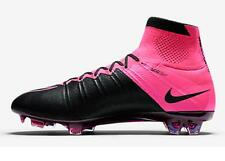 Nike Mercurial Superfly Leather FG Men's Soccer Cleats Football Shoes Black/Pink