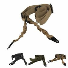 Durable Tactical 2-Point Sling Rifle Gun Strap Adjustable Bungee Gun Rope NEW