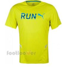 Puma Run S/S Tee 513060 03 men Yellow Fluo moda Polyelastane Fashion T-shirt