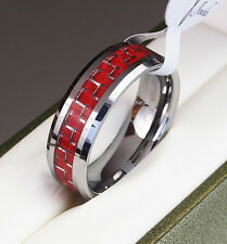 BOXED Genuine Tungsten Carbide Ring Inlay Mens Wedding Band size M O Q S T W Z 3