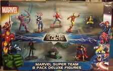 Marvel Comics Super Team 8 pack figures Spiderman thor iron man hulk wolverine