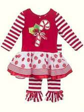 Rare Editions Candy Cane Christmas Outfit Sz 2T and 4T Boutique Pageant