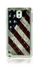Retro Style USA Flag Rhinestone Diamond Bling Case F Samsung Galaxy Note 3 N9000